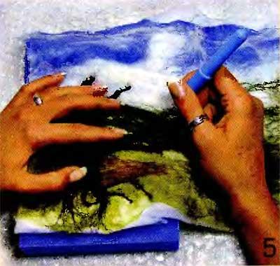 Мягкие картины своими руками. Валяние 23933059_hud5