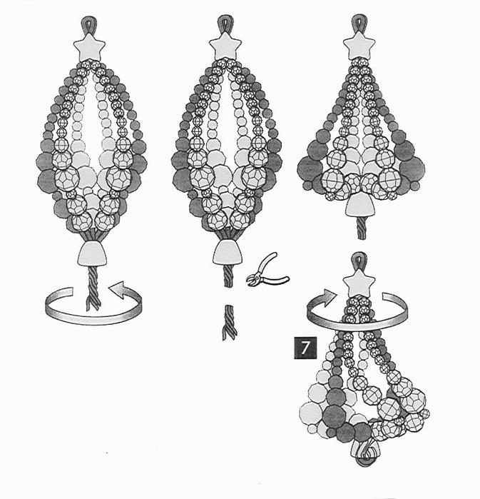 Изящные новогодние украшения из бисера 51362922_cristal2