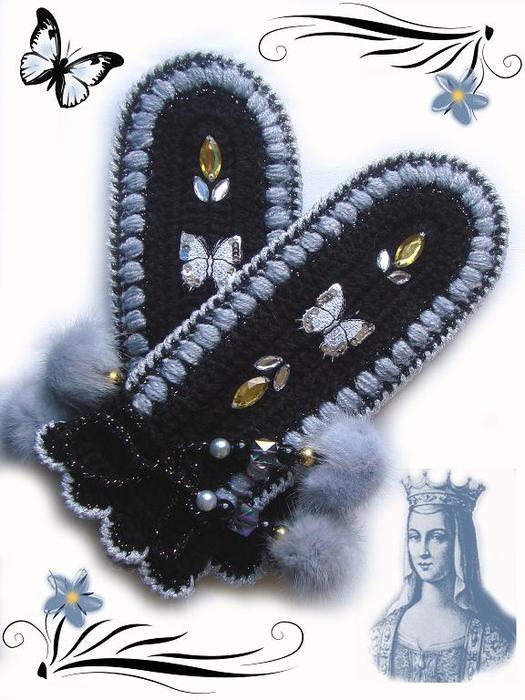 Идеи для вязания варежек крючком 54544947_Varezhki1