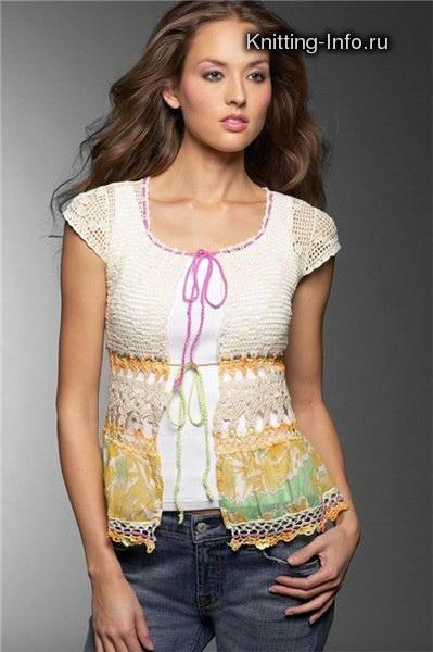Идеи для комбинирования ткани и вязания. 57447987_1270577124_002d263d1aac