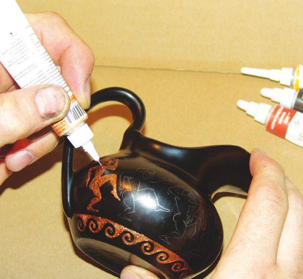 Античная ваза из старого соусника 60719418_ant_vaza_4