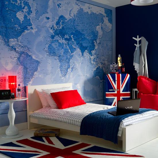 Голубой,бирюзовый,синий в декоре 63012047_boysbedroomidea