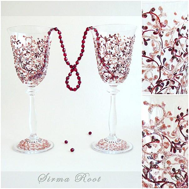 Красивые бокалы к новогоднему столу 67369507_4