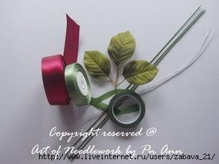 Розы из лент. МК. 70542030_Bunga1