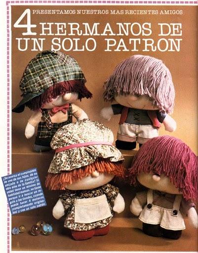 Текстильные куколки. 71304659_Tapa__4_Hermanos_de_un_Solo_Patron
