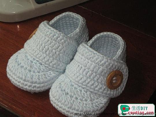 طريقة لصنع حذاء بالكروشي للاطفال 75447617_2