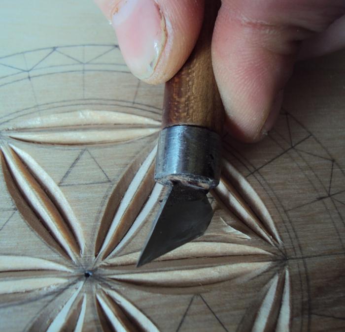 Геометрическая резьба по дереву для начинающих. Мастер-класс 75883621_DSC03544