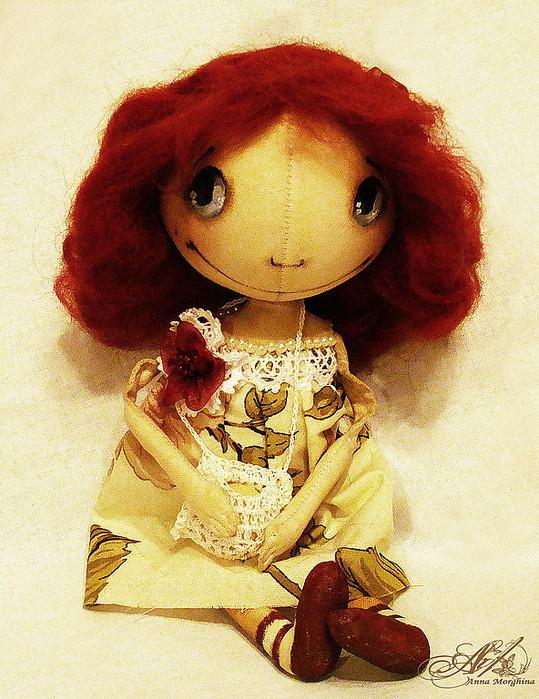 Чудесный и очень подробный мастер класс по рисованию личика примитивной кукле от Анны Моржиной 76447579_3dd1623040n0980
