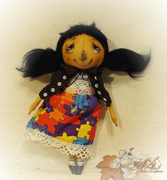 Чудесный и очень подробный мастер класс по рисованию личика примитивной кукле от Анны Моржиной 76447619_aa41497796n2116