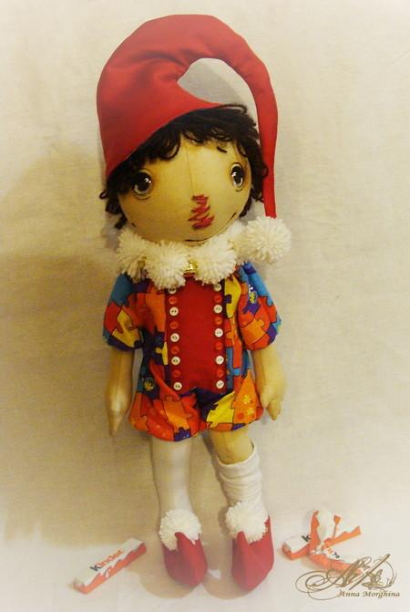 Чудесный и очень подробный мастер класс по рисованию личика примитивной кукле от Анны Моржиной 76447647_fde1766553n8751