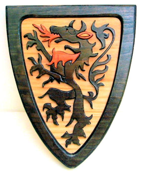 Драконы. Выпиливаем лобзиком. 79395967_Midievil__Fighting_Dragon_shield
