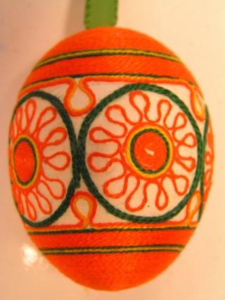 Пасхальные яйца из ткани, лент, джута.... 84857397_2