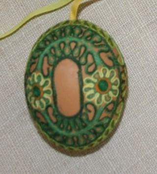 Пасхальные яйца из ткани, лент, джута.... 84857401_adamicova_bozena_14