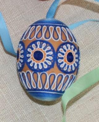 Пасхальные яйца из ткани, лент, джута.... 84857403_adamicova_bozena_20