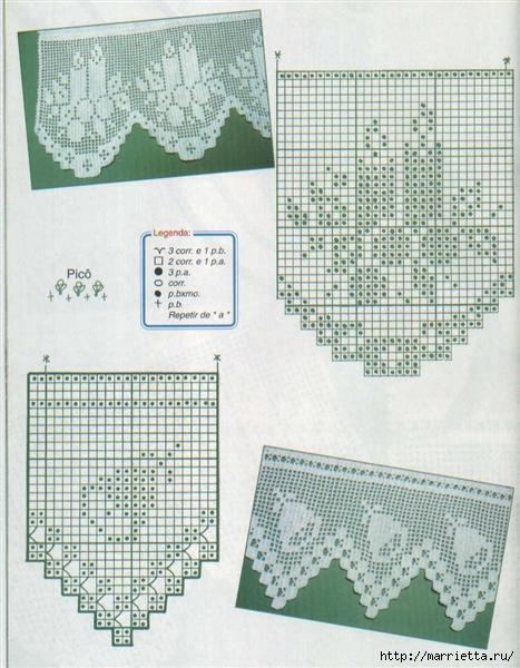 Винтажное вязание крючком. Много винтажных идей со схемами 87224483_Bicos_croche_natal