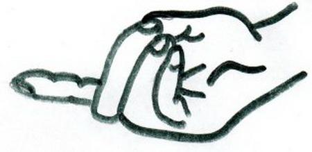"""Целебные мудры. Мудра «Воспламеняющая молния» (Ваджра-Мудра). Мудра """"Три тайны"""" (Тше-Мудра). 87990465_mudra_vajra"""