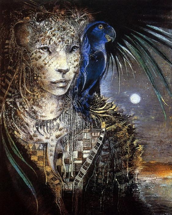 Ваш тотем - помощник  96693947_Susan_Seddon_Boulet_19411997__Brazilianborn_American_Goddess_painter__TuttArt__19_