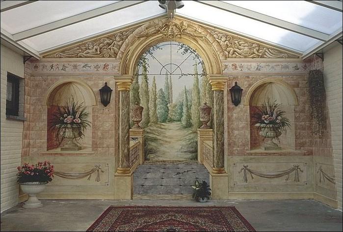 Роспись стен. Роспись-обманка от бельгийского художника VAN HOEF 97653267_rospis_stenuyobmanka__7_