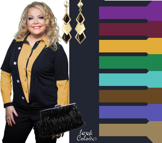 Все о выборе цвета в одежде. 100246353_cherno_seryj_cvet_dlja_polnyh_sochetanie