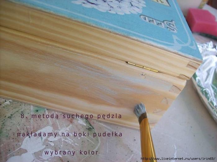 Декупаж с утюгом + Старение при помощи затирания воском, МК. 102331091_mai