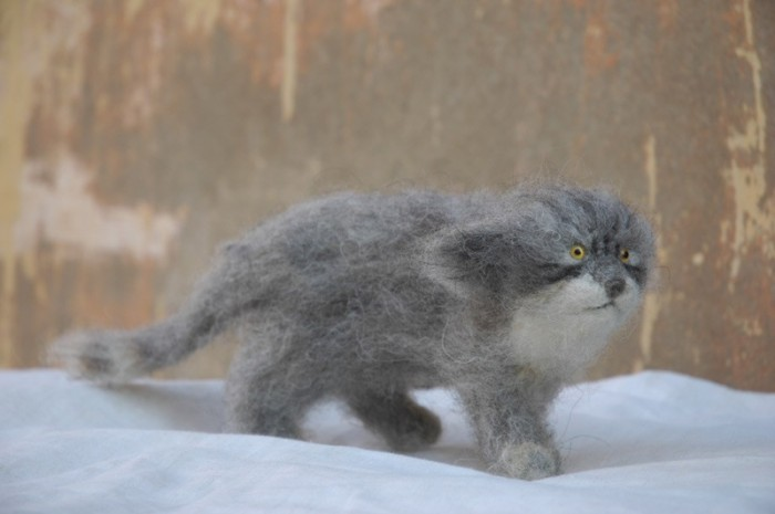 Звери by Victor Dubrovsky 1586677_dubr_wild_cat_felt2