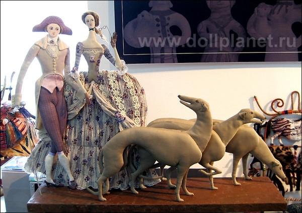 Текстильные куклы Т.Овчинниковой 3742651_ovchinikova-naprogulke