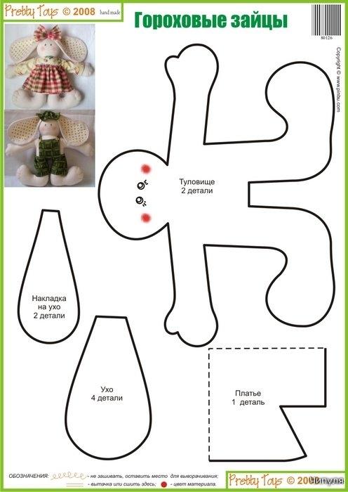 Журнал: Pretty toys № 9. 25 выкроек зайцев, кроликов. 2712389_9-zaici-6