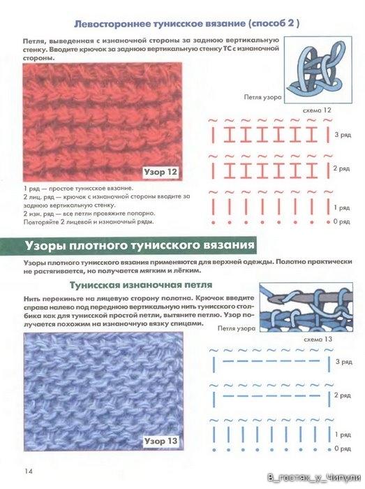 Книга: Тунисское вязание. Техника, узоры, модели. Т.П. Абизяева. 2832367_aa_0013