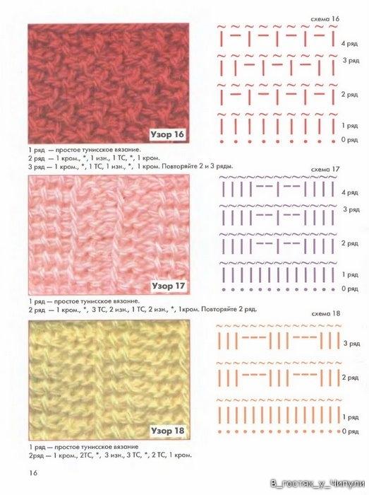 Книга: Тунисское вязание. Техника, узоры, модели. Т.П. Абизяева. 2832369_aa_0015