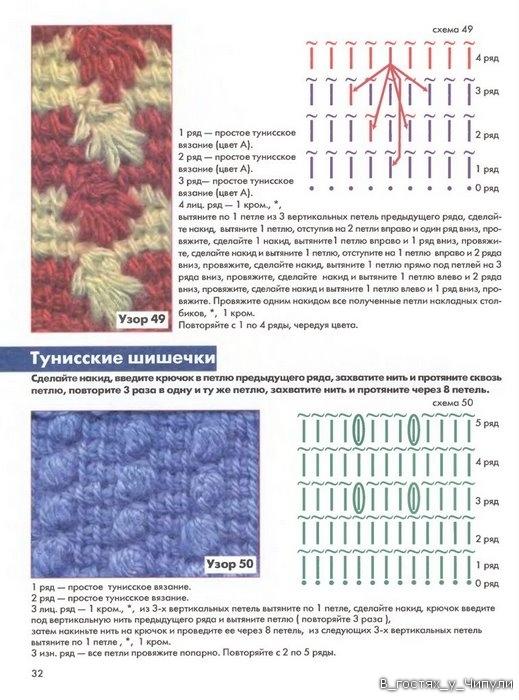 Книга: Тунисское вязание. Техника, узоры, модели. Т.П. Абизяева. 2832385_aa_0031