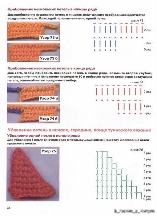 Книга: Тунисское вязание. Техника, узоры, модели. Т.П. Абизяева. 2832397_aa_0043