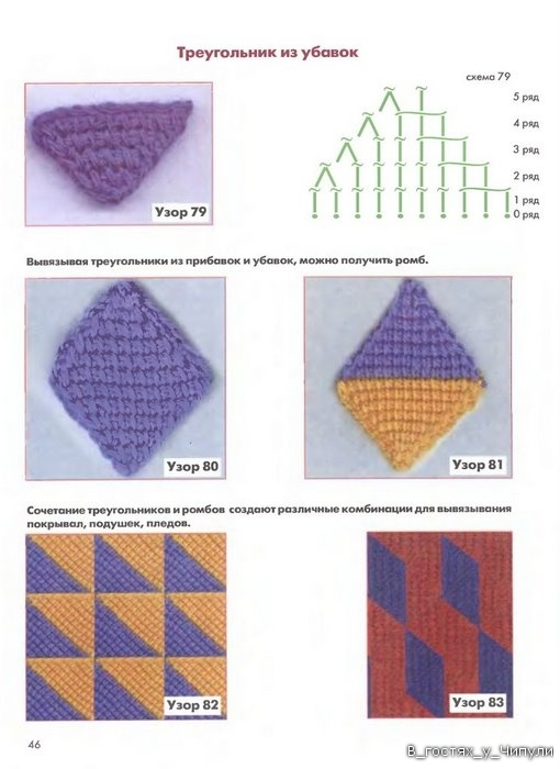 Книга: Тунисское вязание. Техника, узоры, модели. Т.П. Абизяева. 2832399_aa_0045