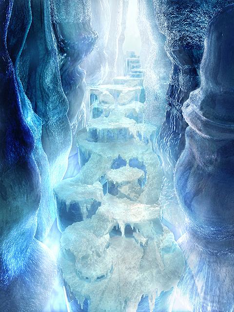 Lost heart cave Ice_Cavern_CG_FFIX_Art
