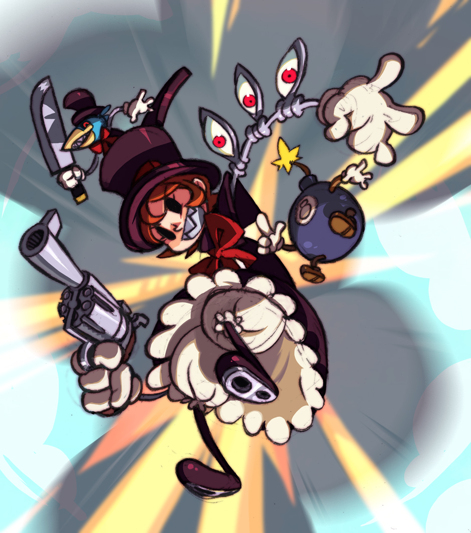 [Multi] Skullgirls Peacock_action_portrait_by_oh8-d2qigab
