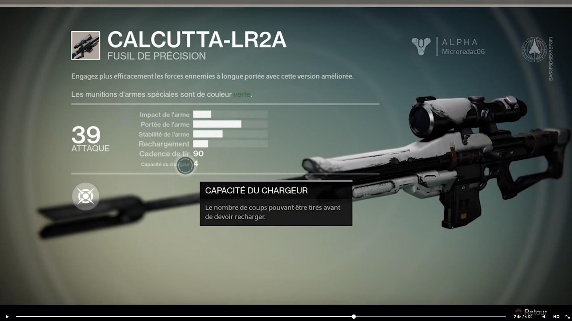 Armes spéciales de Destiny (Légendaire/Sniper/Conduit/Closing Time/Pistolet/Gun) Calc-461efdb