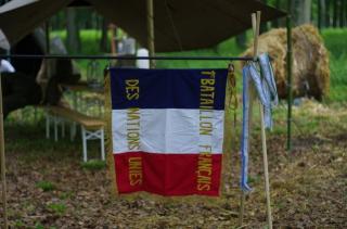 CREVECOEUR, Le Bataillon Français de l'ONU en Corée. (1950-1953) Fanion-45a5263