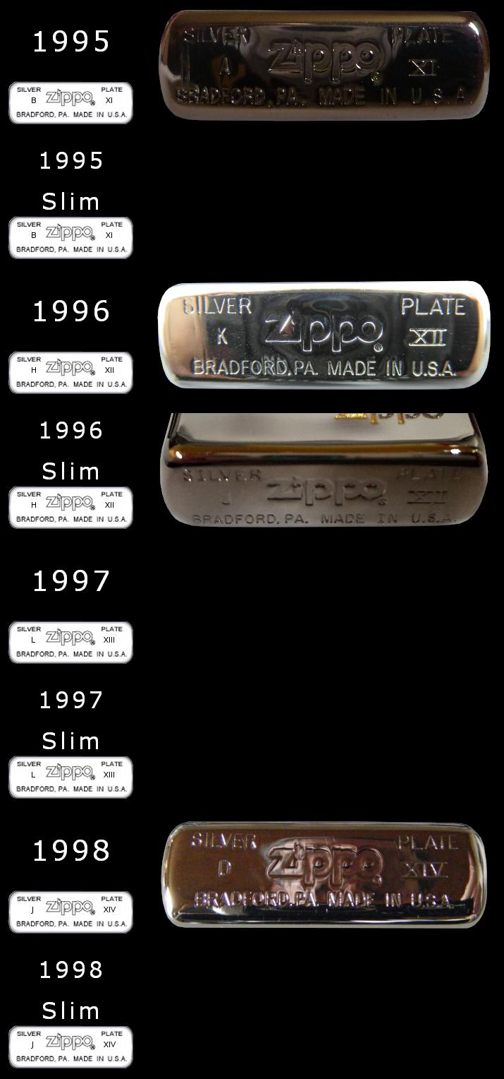 Datation - [Datation] Les Zippo Sterling Silver 1995-1998-525b5c2