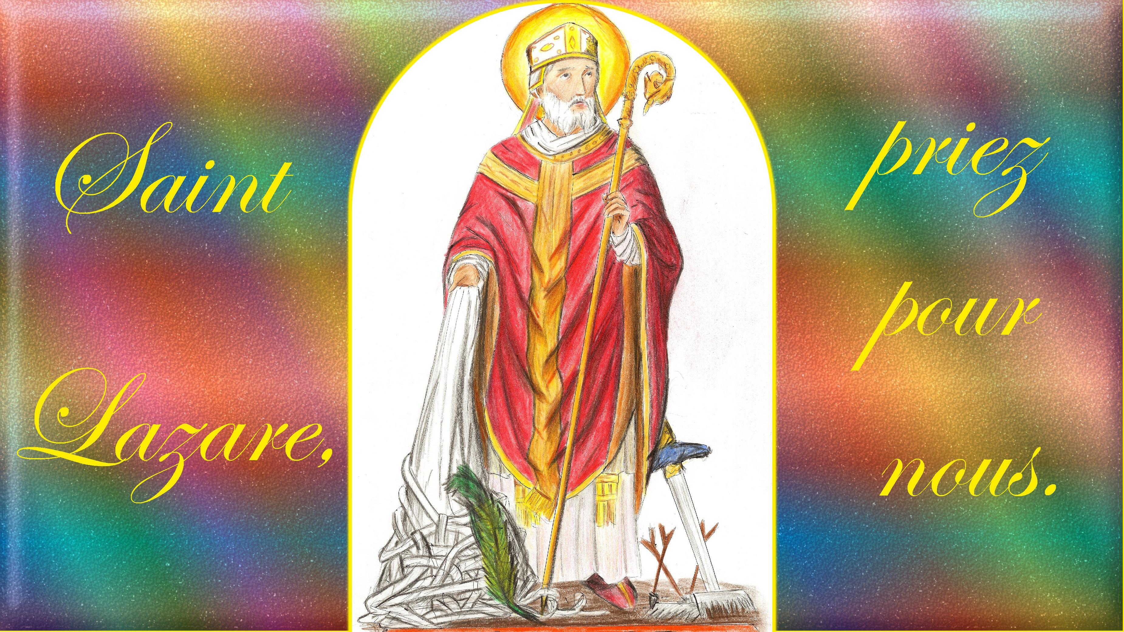 CALENDRIER CATHOLIQUE 2019 (Cantiques, Prières & Images) - Page 18 St-lazare-55e404e