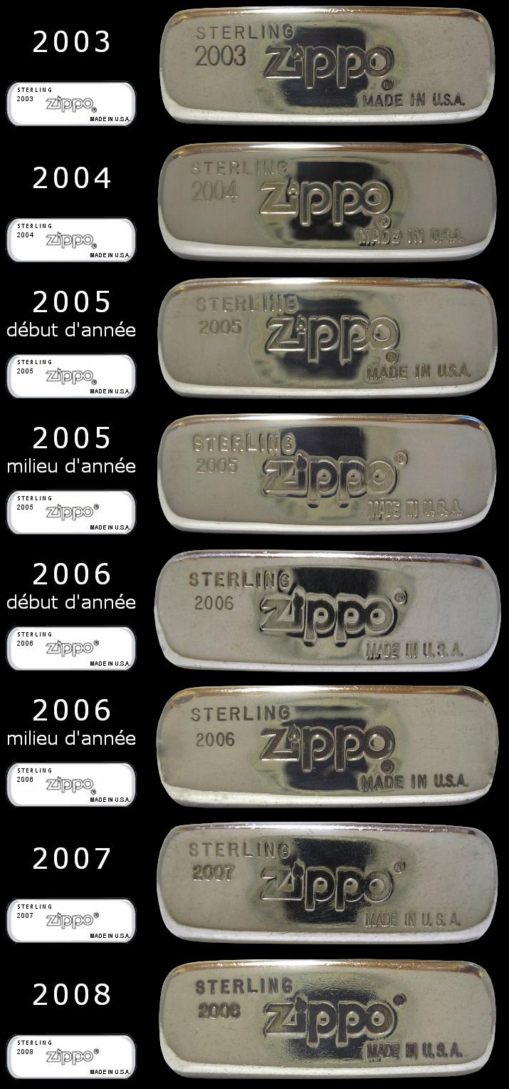 Datation - [Datation] Les Zippo Sterling Silver 2003-2008-523d00e