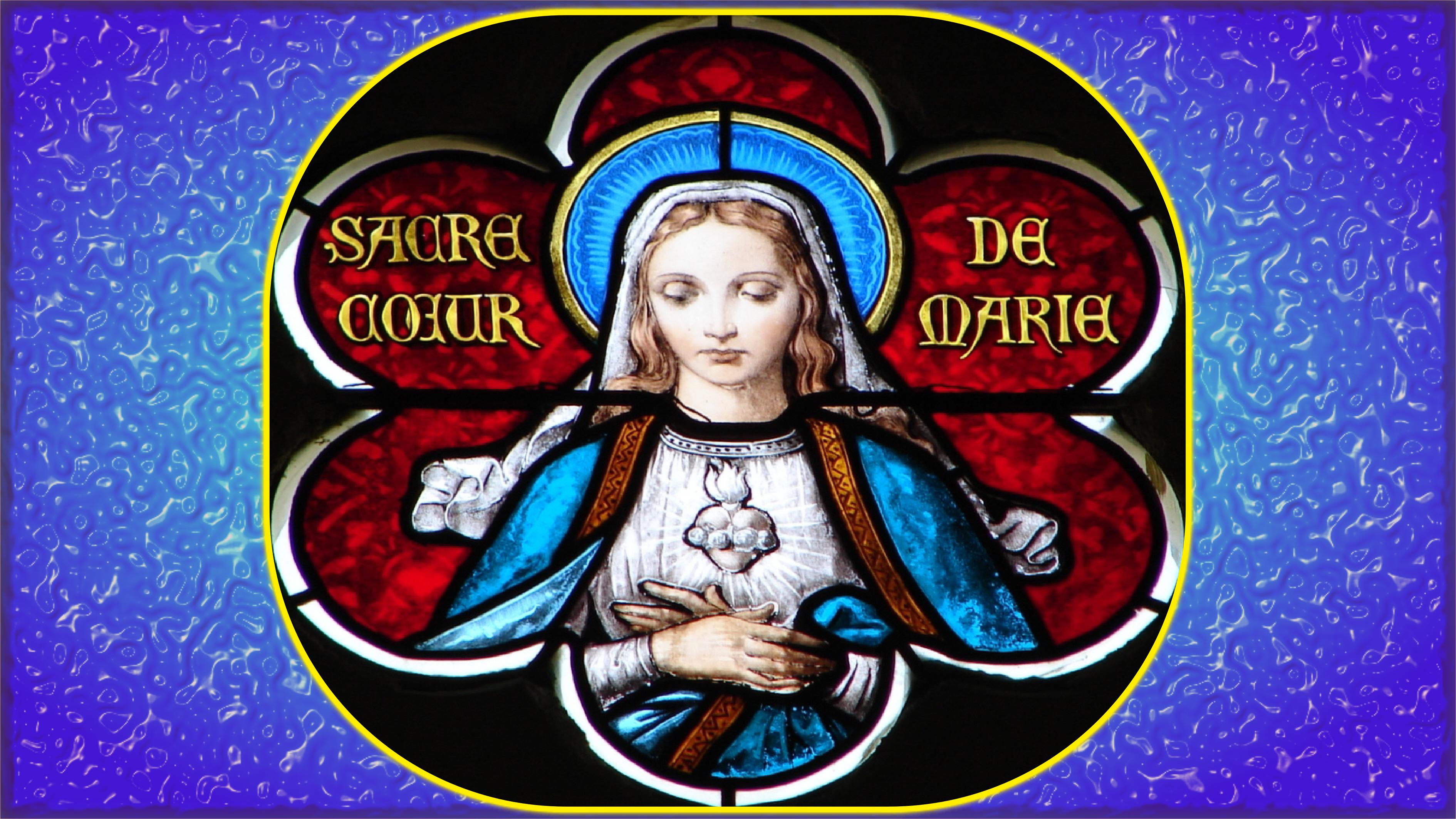 CALENDRIER CATHOLIQUE 2019 (Cantiques, Prières & Images) - Page 7 Le-coeur-immacul-de-marie-1--567f099