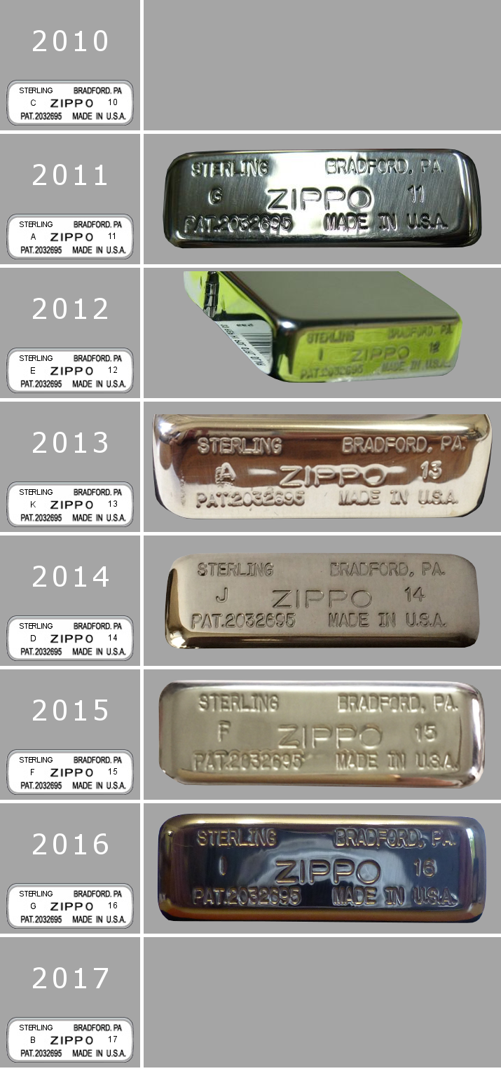 Datation - [Datation] Les Zippo Sterling Silver 2010-2017-5252302