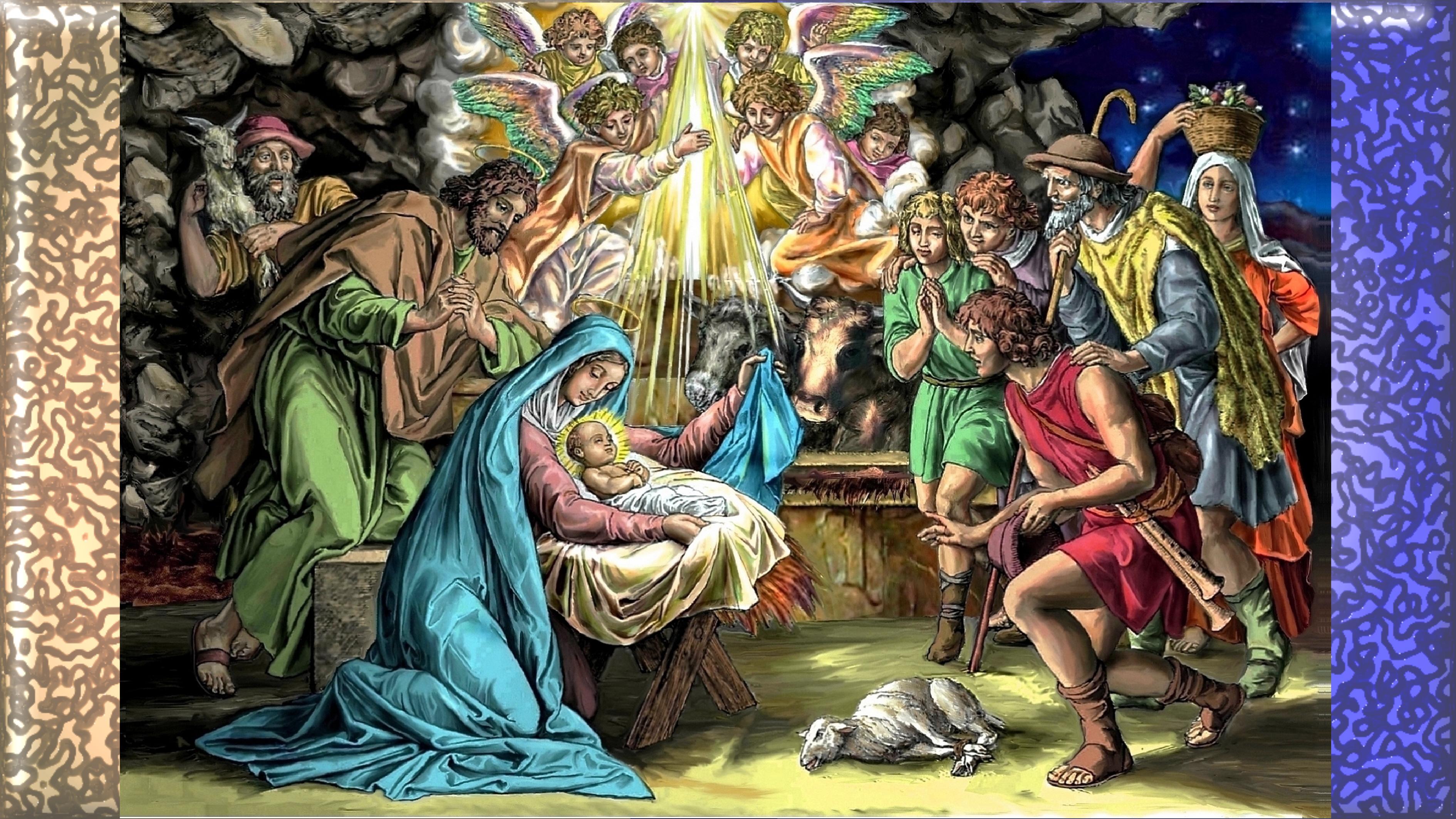 CALENDRIER CATHOLIQUE 2019 (Cantiques, Prières & Images) - Page 19 L-adoration-des-bergers-55ae6c5