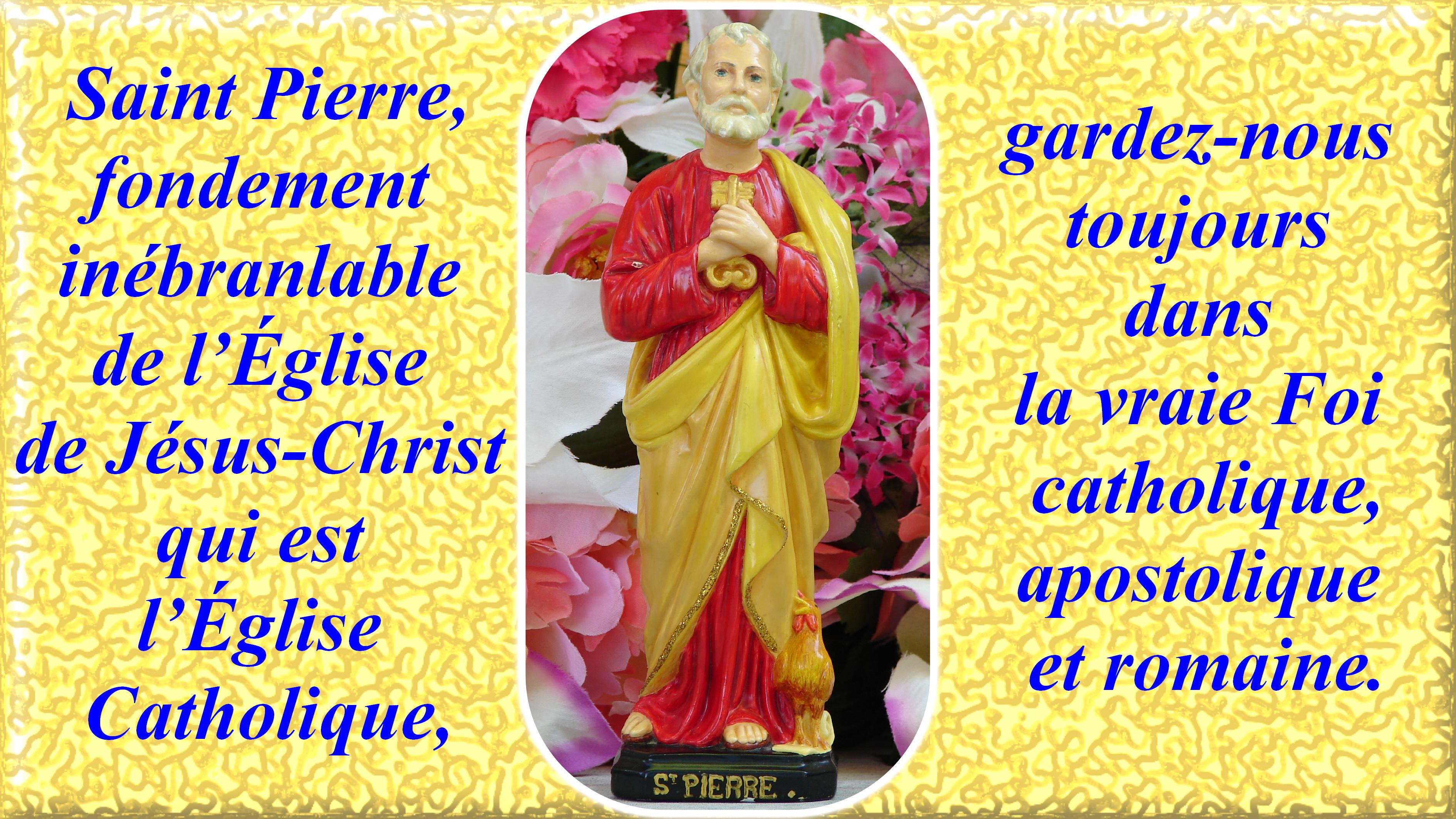 CALENDRIER CATHOLIQUE 2019 (Cantiques, Prières & Images) St-pierre-56541eb