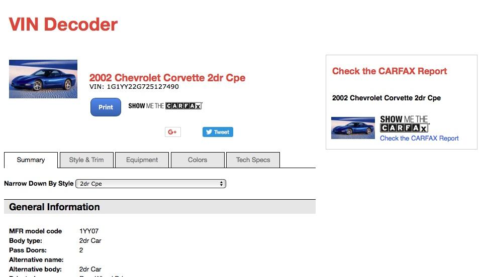 Décodage vin corvette c5 Cor-544c4f7