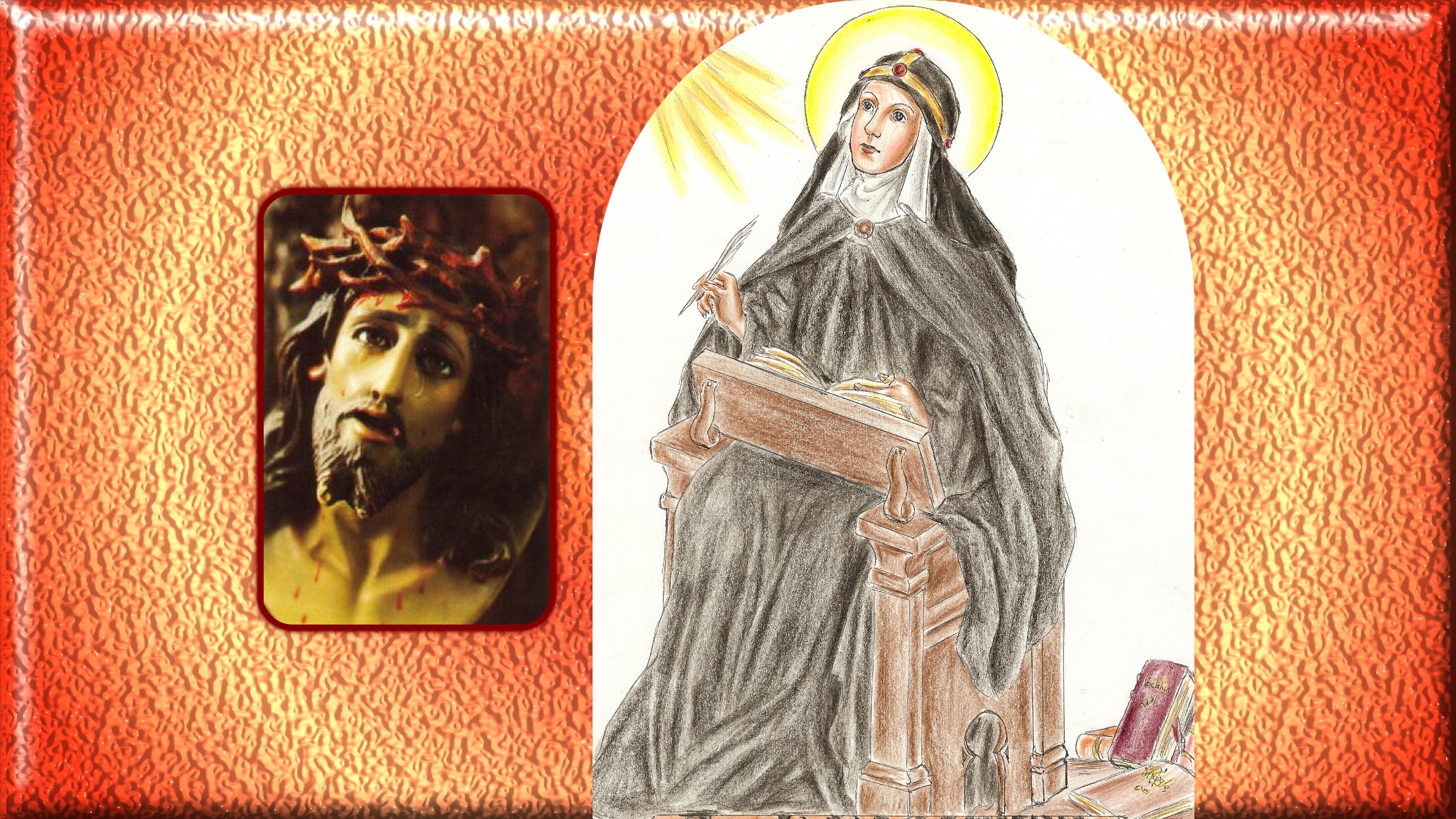 CALENDRIER CATHOLIQUE 2019 (Cantiques, Prières & Images) - Page 11 Ste-brigitte-j-sus-mourant-560a5c4