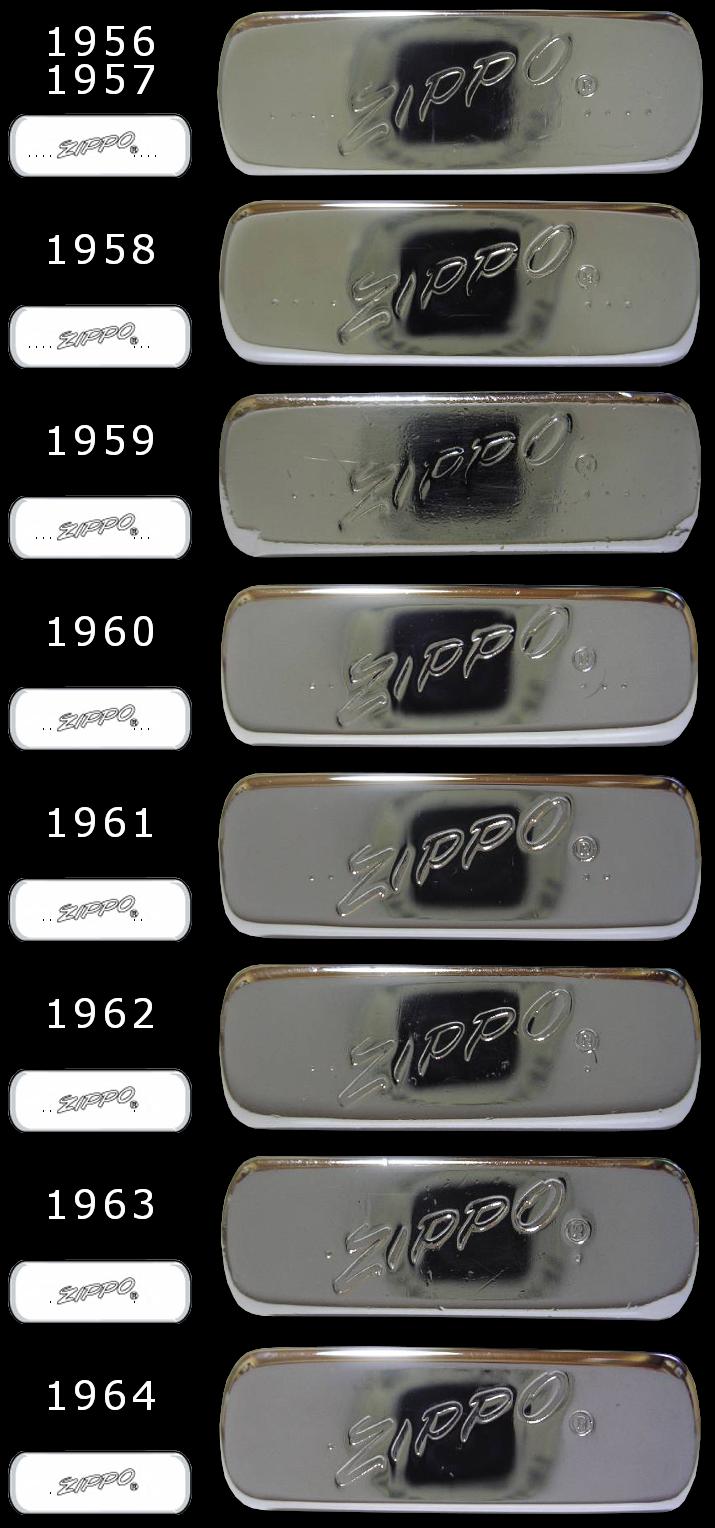 Datation - [Datation] Les Zippo Slim 1956-1964-525caa8