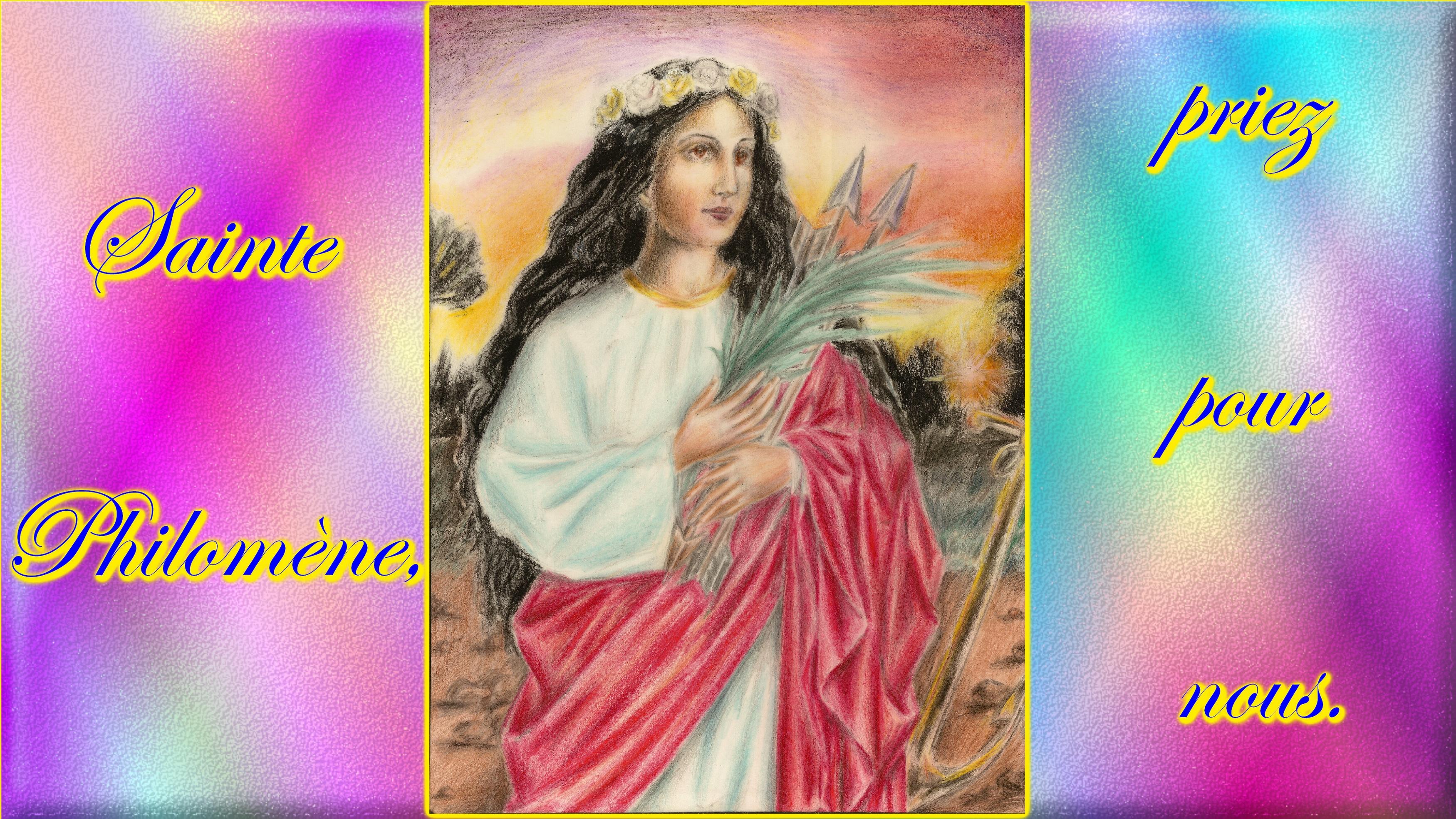 CALENDRIER CATHOLIQUE 2019 (Cantiques, Prières & Images) - Page 5 Ste-philom-ne-5674734