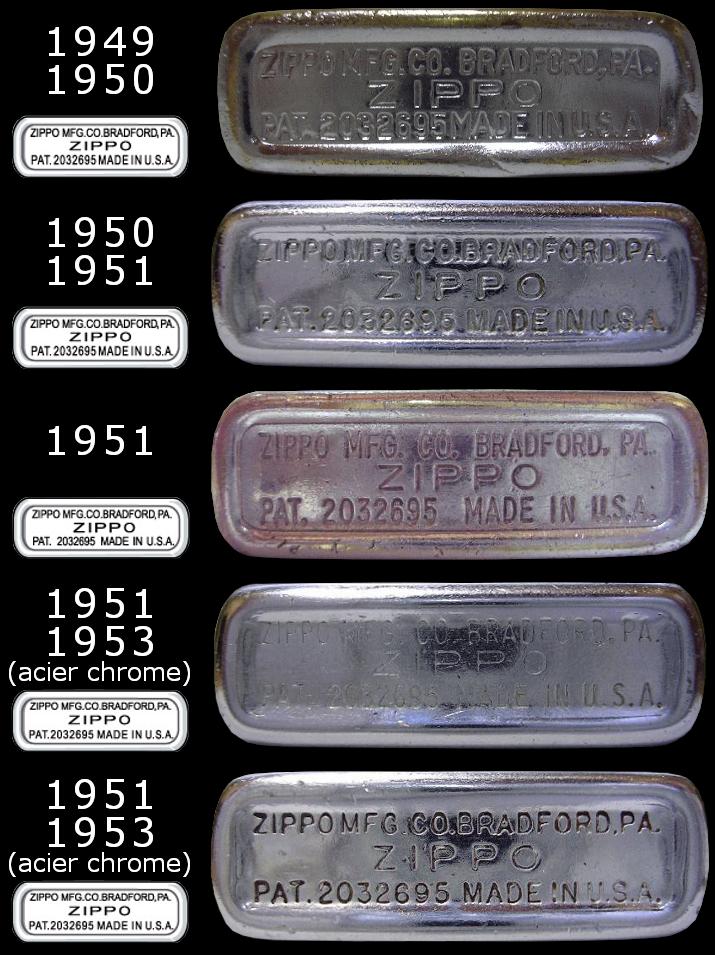 Datation - [Datation] Les Zippo Regular Regular-1949-1953-5266ec9