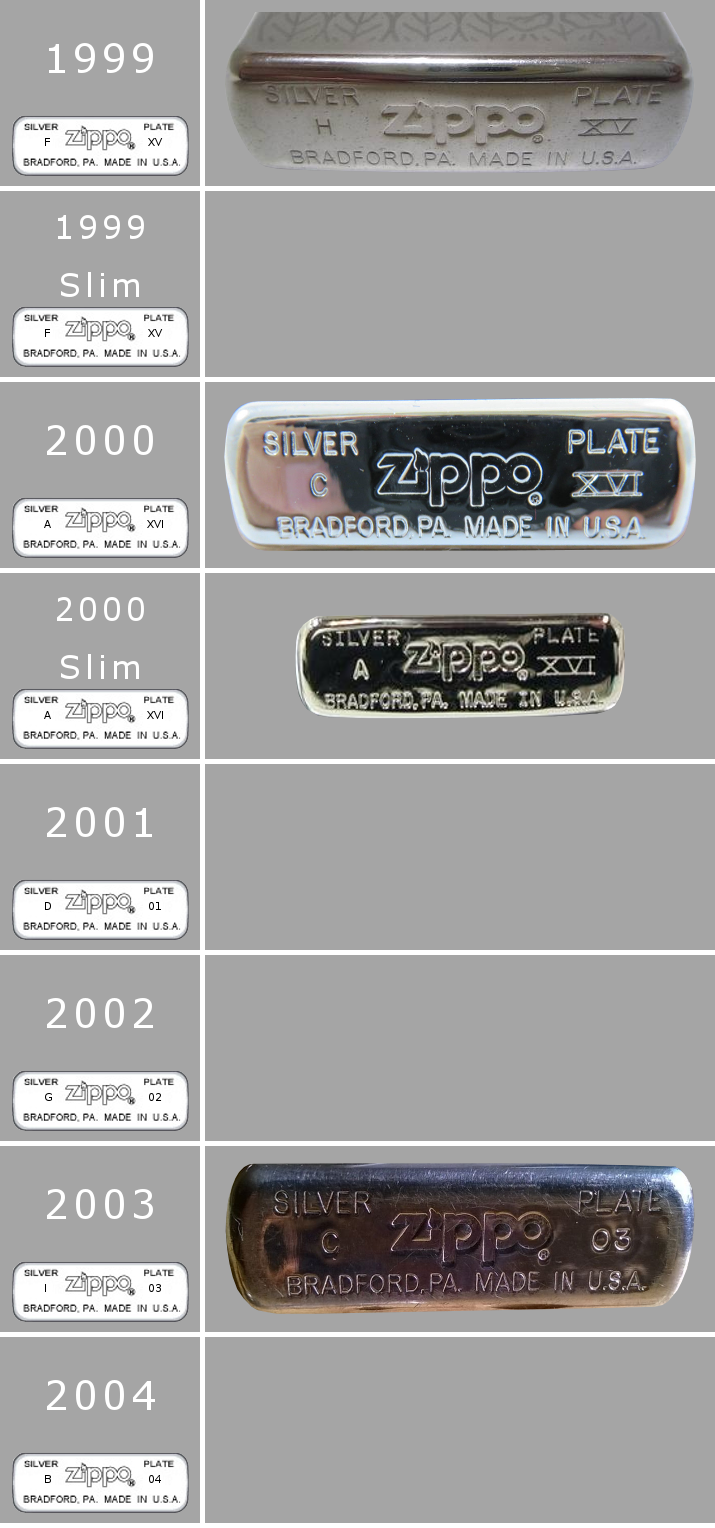 [Datation] Les Zippo Sterling Silver 1999-2004-52427b4