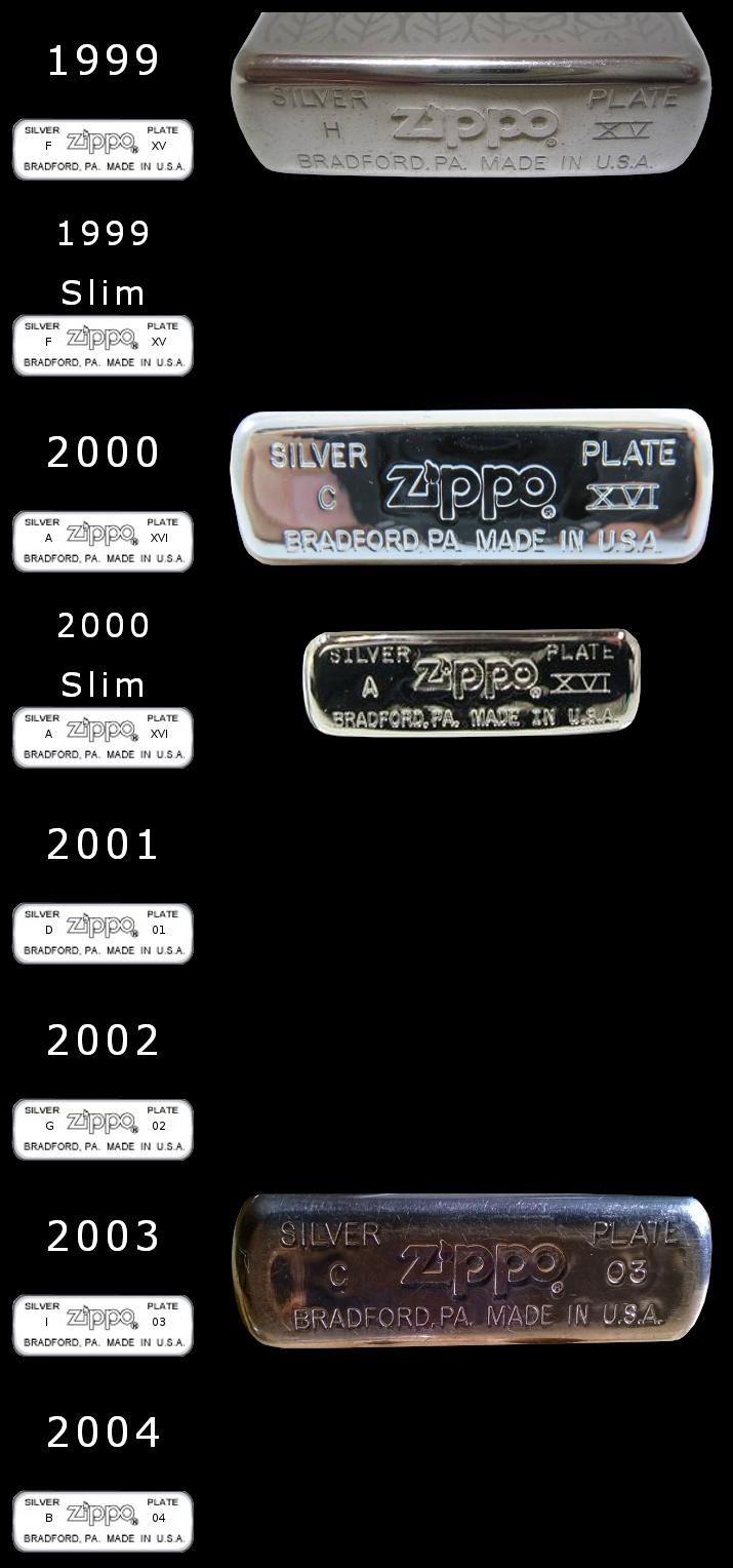 Datation - [Datation] Les Zippo Sterling Silver 1999-2004-52427b4